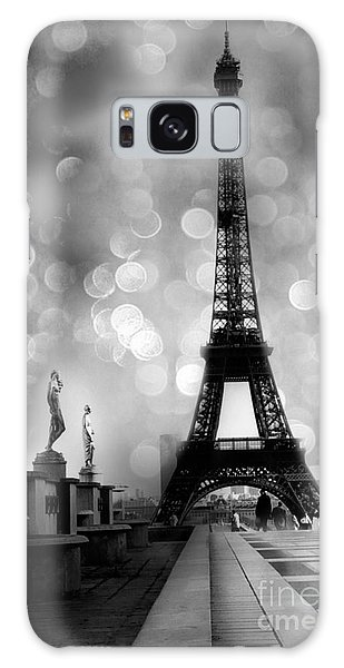 Paris Eiffel Tower Surreal Black And White Photography - Eiffel Tower Bokeh Surreal Fantasy Night  Galaxy Case