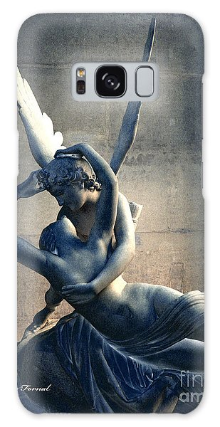 Paris Eros And Psyche Romantic Lovers - Paris In Love Eros And Psyche Louvre Sculpture  Galaxy Case