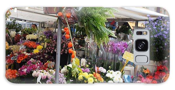 Paris Flower Market Galaxy Case