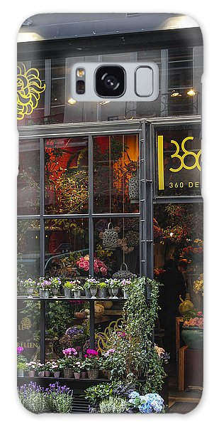 Paris Flower Shop Galaxy Case by Glenn DiPaola