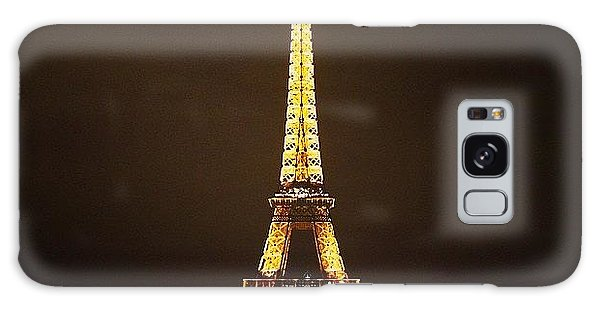 #paris #france #night #lights Galaxy Case