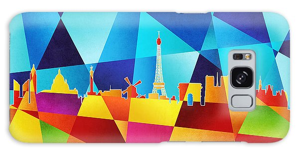 Contemporary Galaxy Case - Paris France Skyline by Michael Tompsett