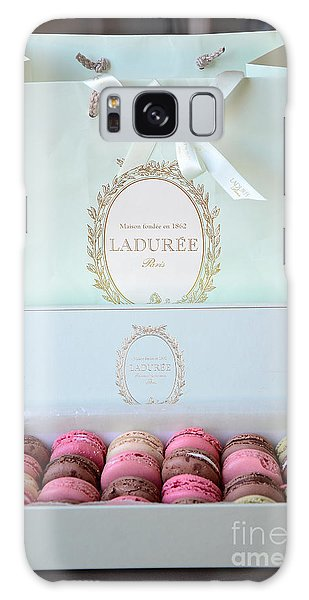 Paris Laduree Macarons - Dreamy Laduree Box Of French Macarons With Laduree Bag  Galaxy Case