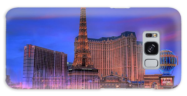 Paris Las Vegas At Sunset Galaxy Case