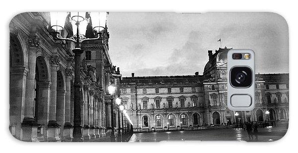 Paris Louvre Museum Lanterns Lamps - Paris Black And White Louvre Museum Architecture Galaxy Case