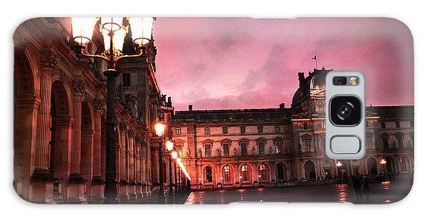 Paris Louvre Museum Night Architecture Street Lamps - Paris Louvre Museum Lanterns Night Lights Galaxy Case