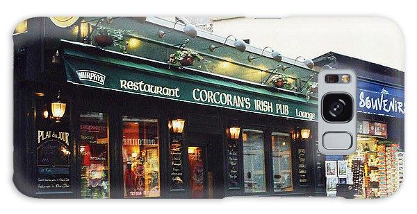 Street Cafe Galaxy Case - Paris Montmartre Irish Pubs Sidewalk Cafe Pub - Corcoran's Irish Pub Cafe Montmartre District by Kathy Fornal