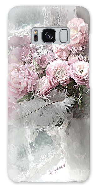Cottage Galaxy Case - Paris Pink Impressionistic French Roses And Ranunculus - Shabby Chic Romantic Pink Flowers by Kathy Fornal