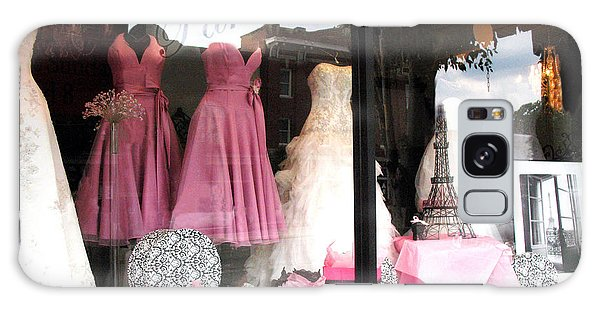 Paris Pink White Bridal Dress Shop Window Paris Decor Galaxy Case