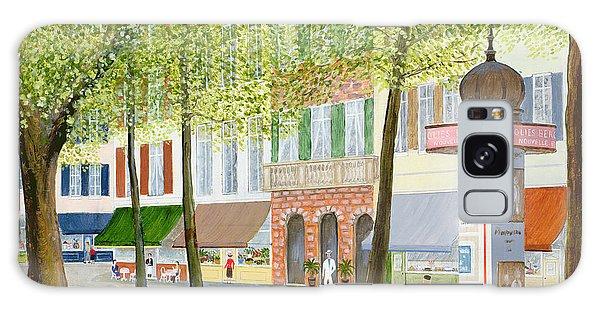 Street Cafe Galaxy Case - Paris Scene by Mark Baring