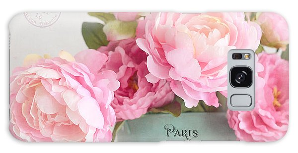 Paris Peonies Shabby Chic Dreamy Pink Peonies Romantic Cottage Chic Paris Peonies Floral Art Galaxy Case