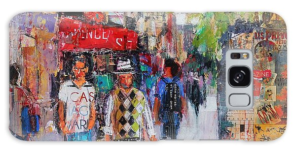 Abstract People Galaxy Case - Paris Street by Sylvia Paul