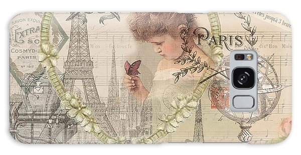 Paris Vintage Collage With Child Galaxy Case