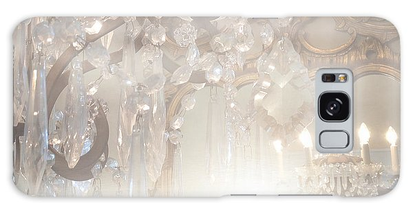 Paris Dreamy White Gold Ghostly Crystal Chandelier Mirrored Reflection - Paris Crystal Chandeliers Galaxy Case