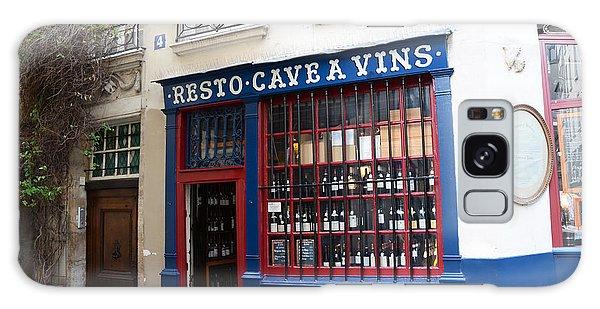 Street Cafe Galaxy Case - Paris Wine Shop Resto Cave A Vins - Paris Street Architecture Photography by Kathy Fornal