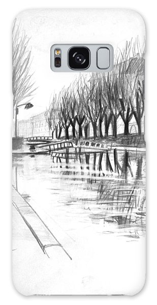 Paris Winter Canal Galaxy Case