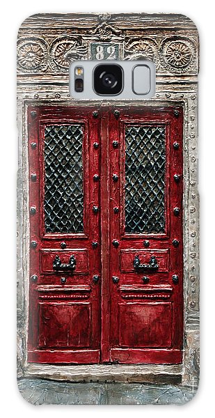 Parisian Door No.82 Galaxy Case