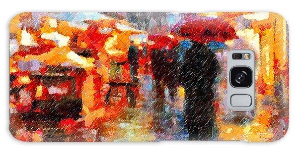 Parisian Rain Walk Abstract Realism Galaxy Case
