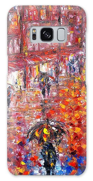 Parisian Umbrellas Galaxy Case