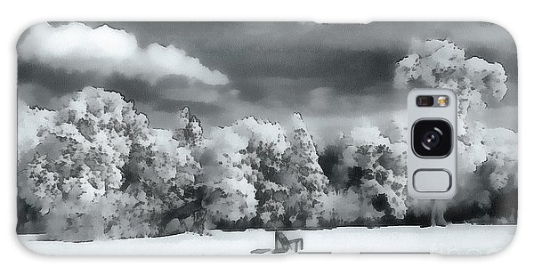 Strange Clouds Galaxy Case - Park In Infrared by Odon Czintos