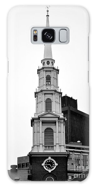 Park Street Church Boston Black And White Galaxy Case