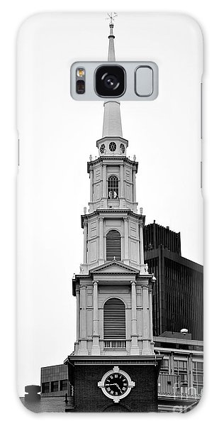 Park Street Church Boston Black And White Galaxy Case