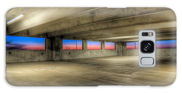 Parking Deck Sunset Galaxy Case