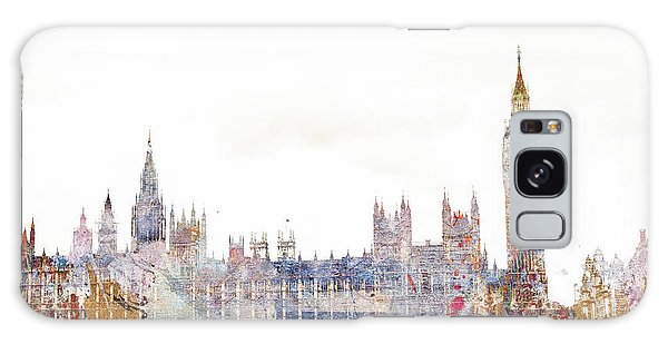 Houses Of Parliament Galaxy Case - Parliament Color Splash by MGL Meiklejohn Graphics Licensing