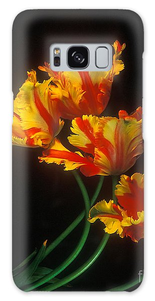 Parrot Tulips On Easter Morning Vertical Galaxy Case by Teri Brown