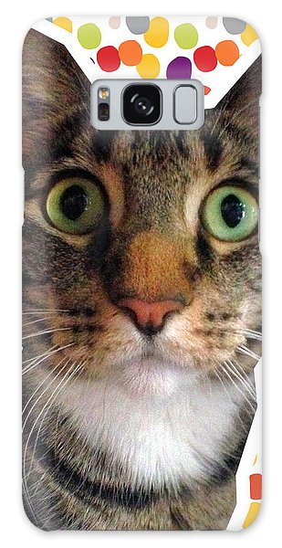 Tabby Galaxy Case - Party Animal- Cat With Confetti by Linda Woods