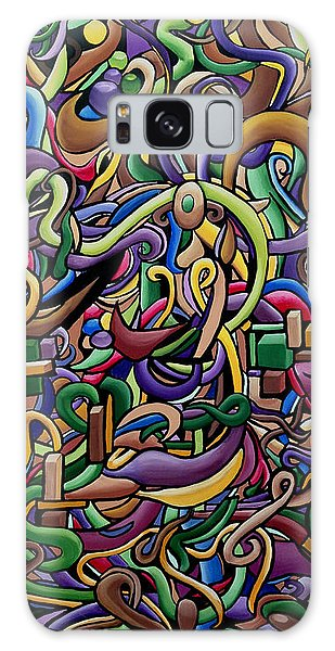 Colorful Abstract Illusion Artwork Painting, Cosmic Energy Flow Art, Music Frequency Galaxy Case