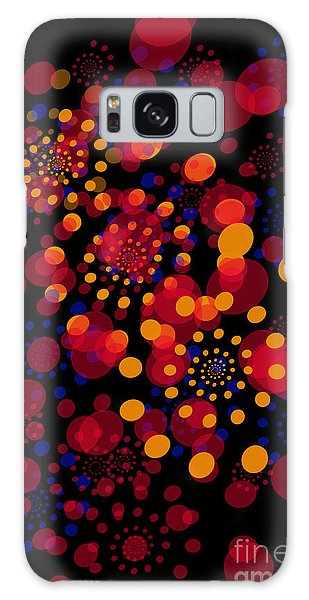 Party Time Abstract Painting Galaxy Case by Claudia Ellis