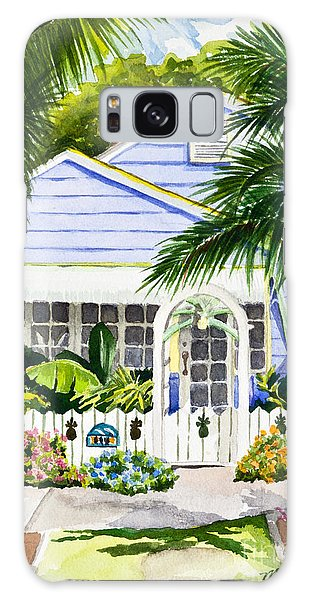 Pass-a-grille Cottage Watercolor Galaxy Case by Michelle Wiarda