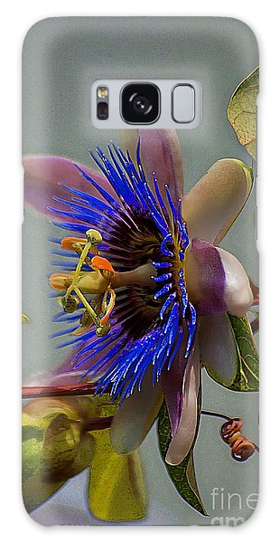 Passion Flower Galaxy Case by John  Kolenberg