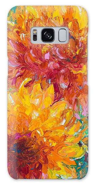 Blooms Galaxy Case - Passion by Talya Johnson