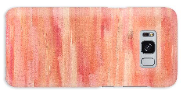 Passionate Peach Galaxy Case by Lourry Legarde