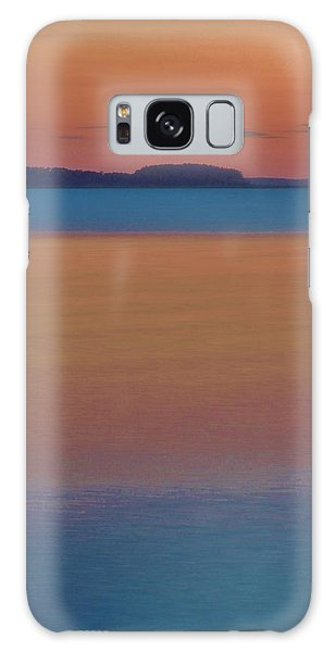 Pastel Bay - Sunset Photo Galaxy Case