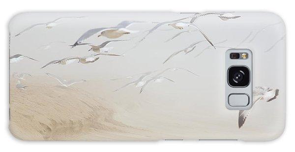 Pastel Gulls In Fog Galaxy Case by Kenneth Albin