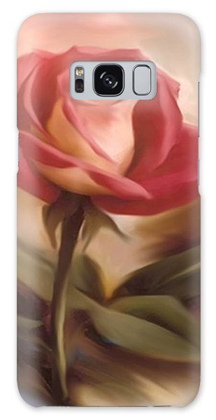 Pastel Light Red Rose Galaxy Case