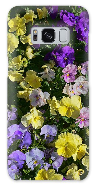 Pastel Pansies Galaxy Case