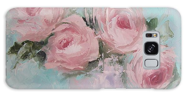 Pastel Pink Roses Painting Galaxy Case