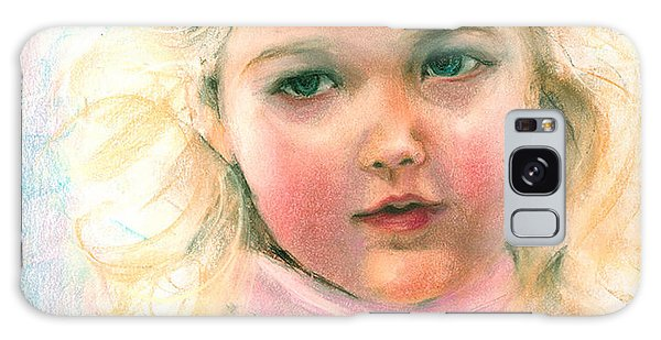 Pastel Portrait Of An Angelic Girl Galaxy Case