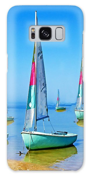 Pastel Sailboats Galaxy Case by Oscar Alvarez Jr