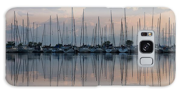 Pastel Sailboats Reflections At Dusk Galaxy Case