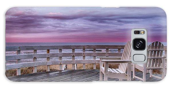 Pastel Sunset View Galaxy Case