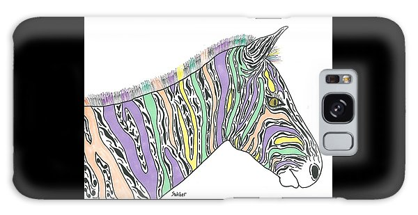 Pastel Zebra  Galaxy Case by Susie Weber
