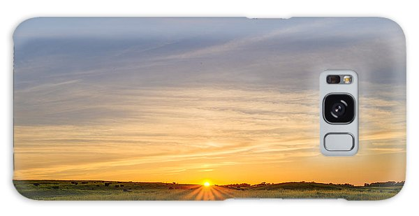 Pasture At Sunset Galaxy Case