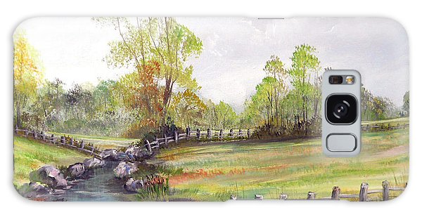 Pasture By The River Galaxy Case by Dorothy Maier