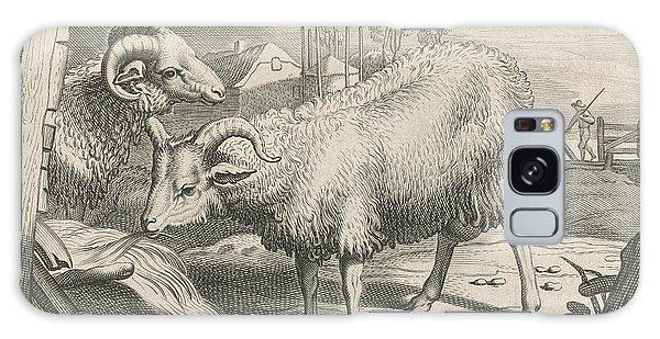 Pasture Galaxy Case - Pasture With A Sheep And A Ram, Reinier Van Persijn by Reinier Van Persijn And Jacob Gerritsz Cuyp And Nicolaes Visscher (i)