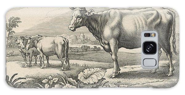Pasture Galaxy Case - Pasture With Cows, Print Maker Reinier Van Persijn by Reinier Van Persijn And Jacob Gerritsz Cuyp And Nicolaes Visscher I